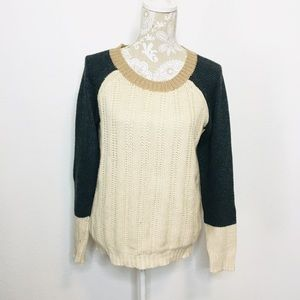 41 Hawthorn Chunky Color block Sweater MED 1101